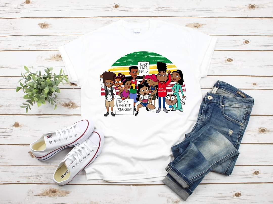 Youth 90's Cartoon Character Black Lives Matter  Tee