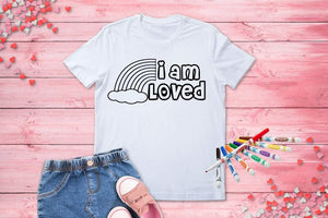 I Am Loved  Coloring Shirt