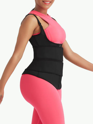 Plus Size Latex Double Belts Waist Trainer Vest