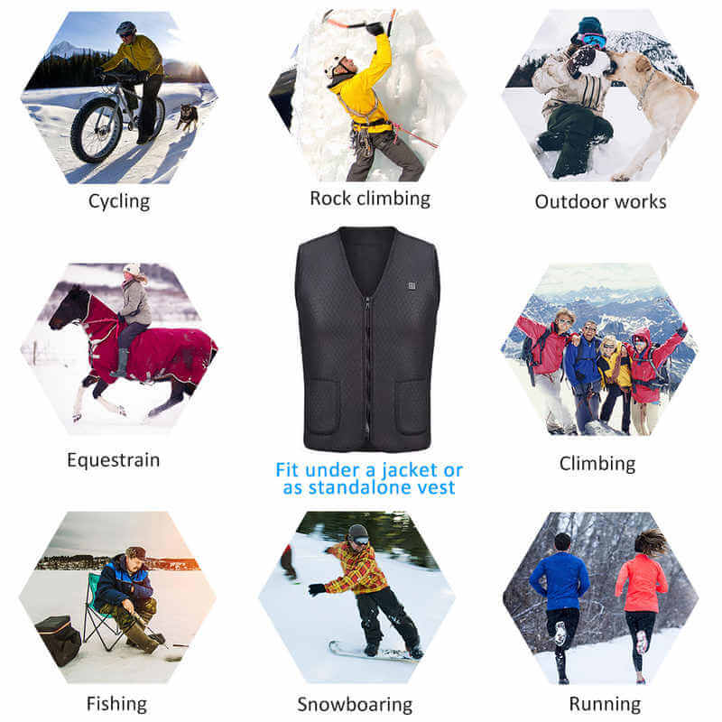Sculptshe 5 Elements  USB Electric Heating Waistcoat Vest