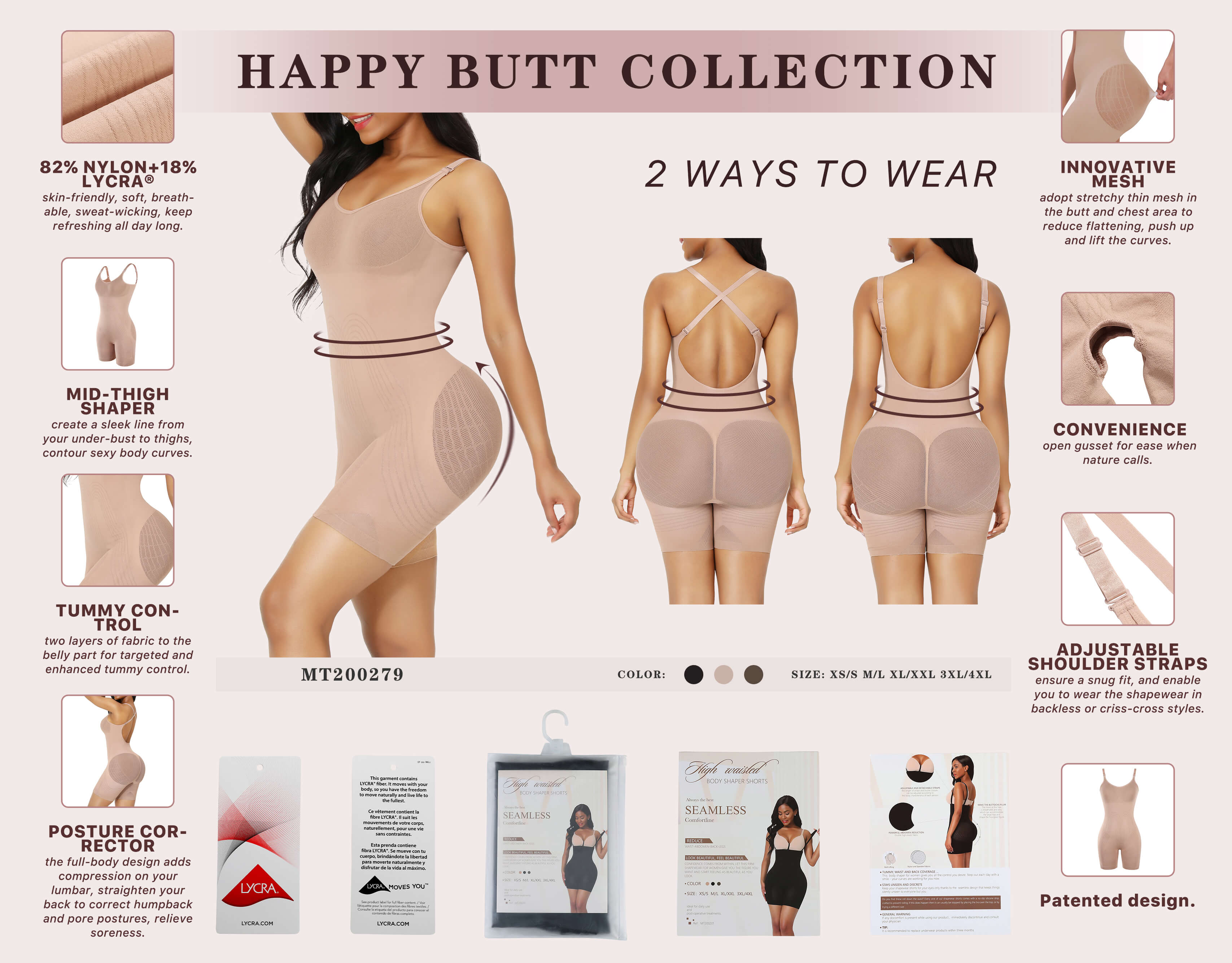 Sculptshe Body Sculpt Backless Shapewear