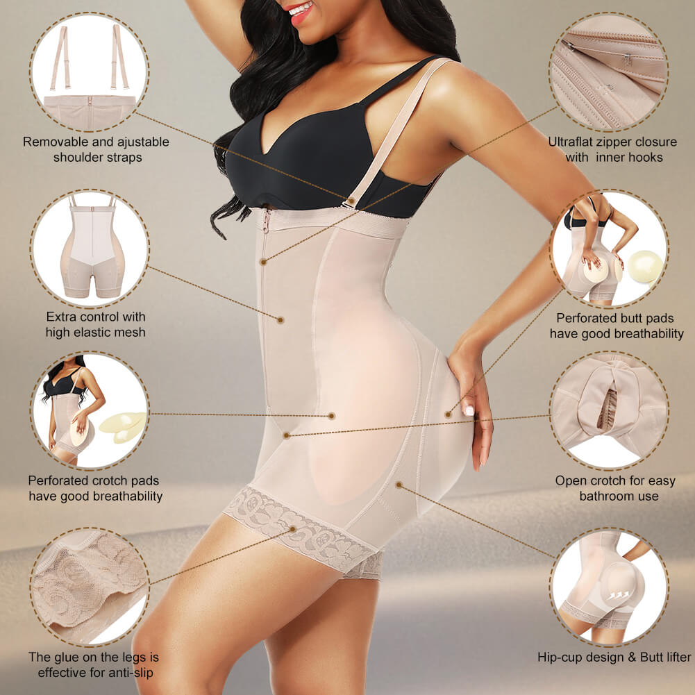Sculptshe Butt Lifter Removable Pads Shapewear