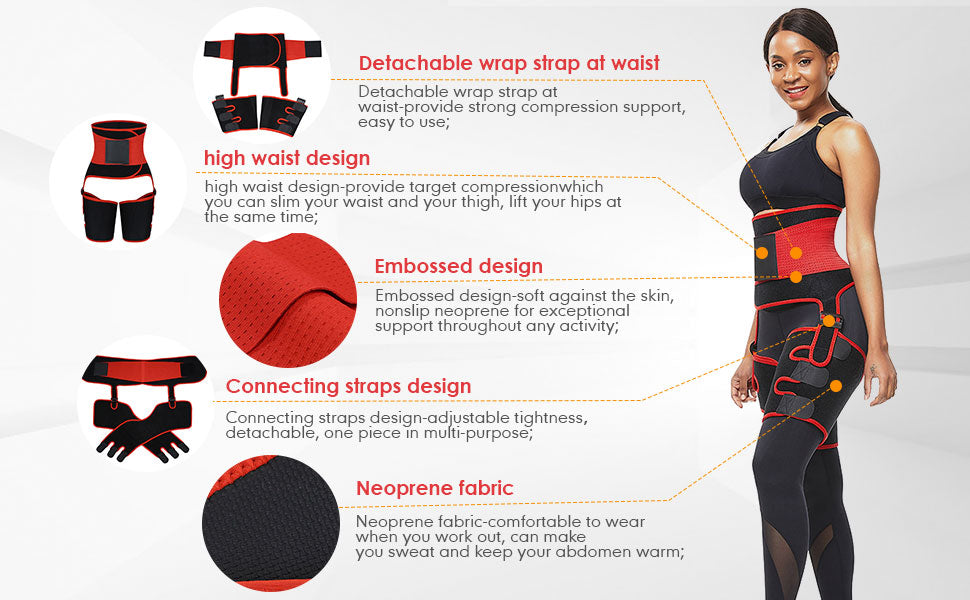 Sculptshe Detachable Ultra Sweat Waist and Thigh Trimmer