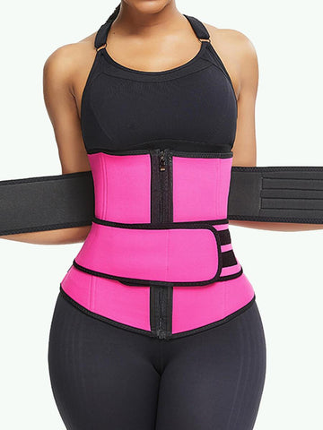 Latex Double Belts Sport Corset Waist Trainer