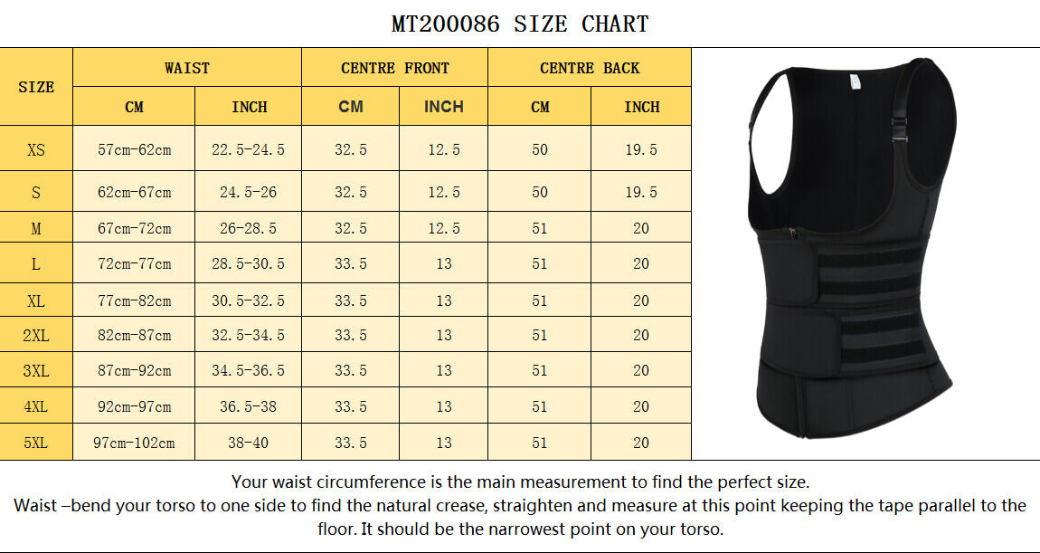 Sculptshe Plus Size Latex Double Belts Sticker Waist Trainer Vest Shaper