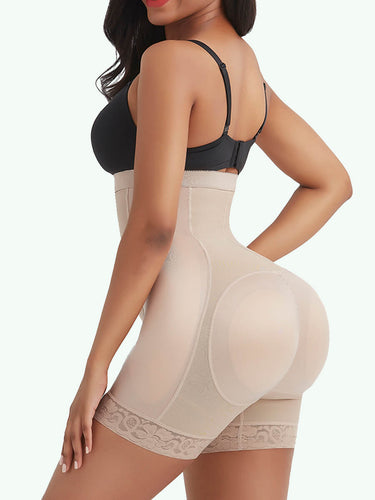 Sculptshe High Waist Shaper Shorts With 4 Removable Pads