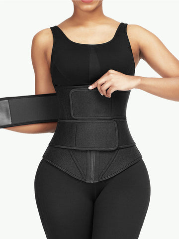 Sculptshe Adjustable Double Belt Sweat Waist Trainer