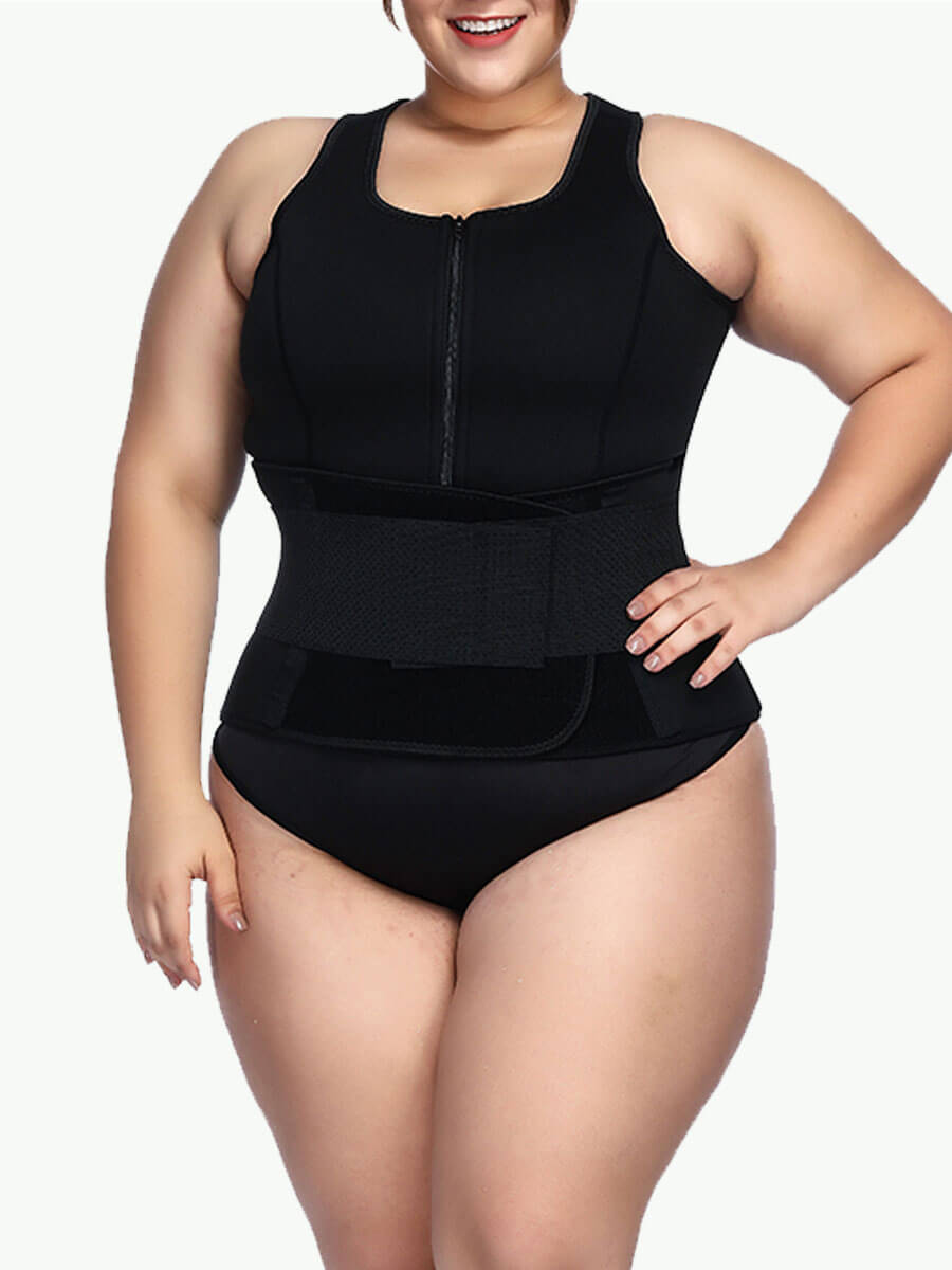 plus size latex waist trainer