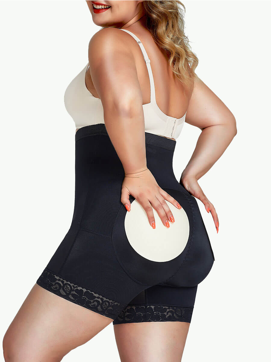 Sculptshe Plus Size Removable Pads Butt Lifter Shorts