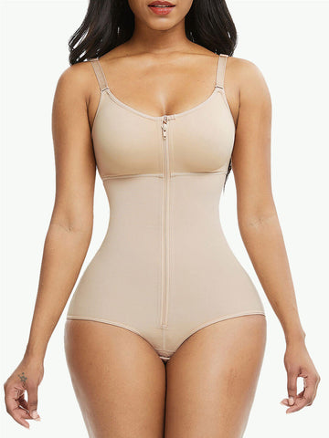 Sculptshe Plus Size Seamless Adjustable Straps Bodysuit