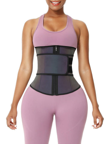 Sculptshe Rainbow Reflective Latex Workout Waist Trainer