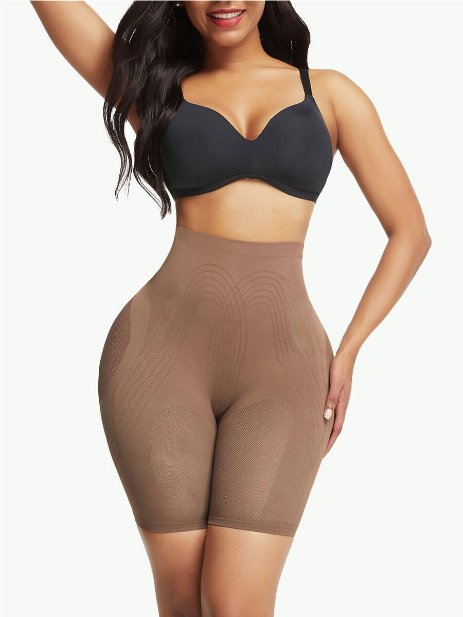 Sculptshe Seamless Mesh Tummy Control Butt Lifter Shorts