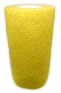Cohesive Bandages YELLOW 100mm x 4.5m