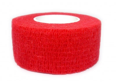 Cohesive Bandages RED 25mm x 4.5m
