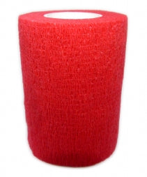 Cohesive Bandages RED 75mm x 4.5m