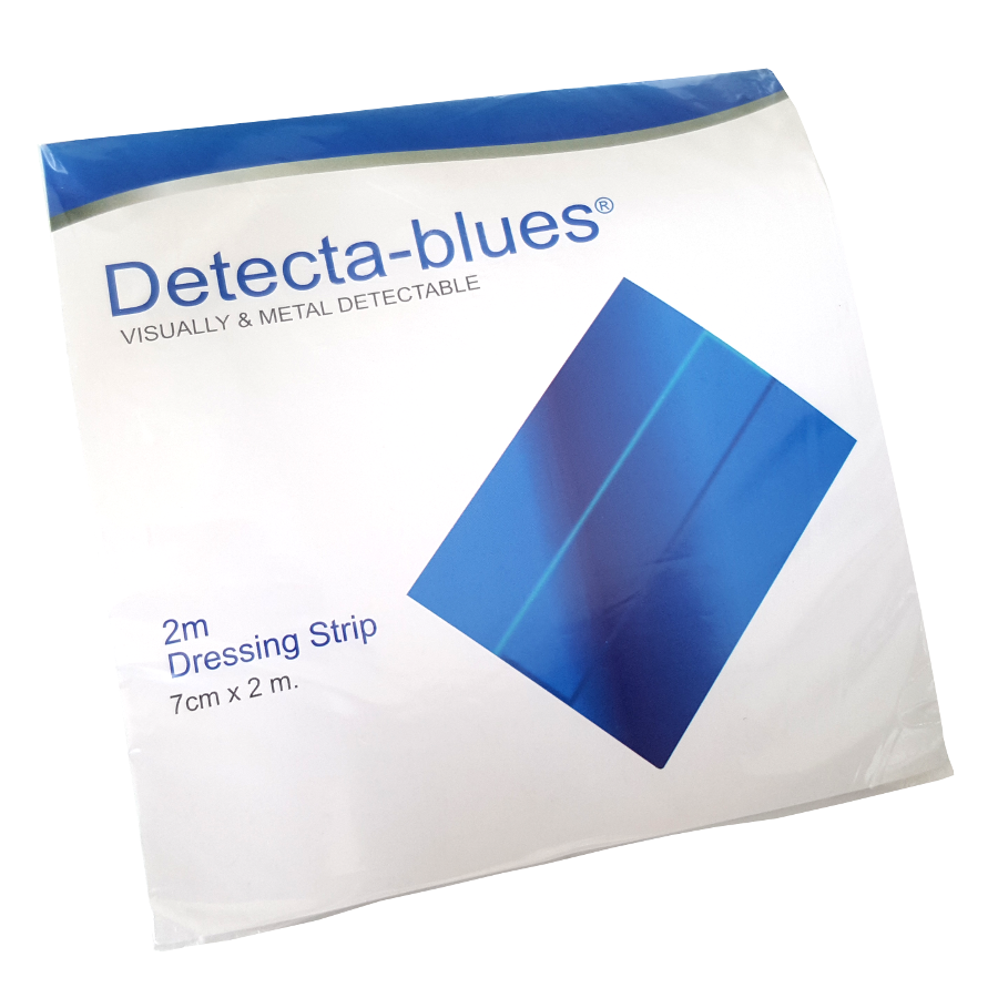 Detecta-blues Visually & Metal Detectable Dressing Strip 2m x 7cm