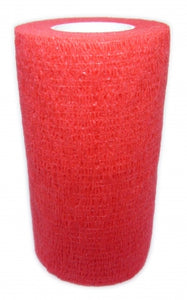 Cohesive Bandages RED 100mm x 4.5m