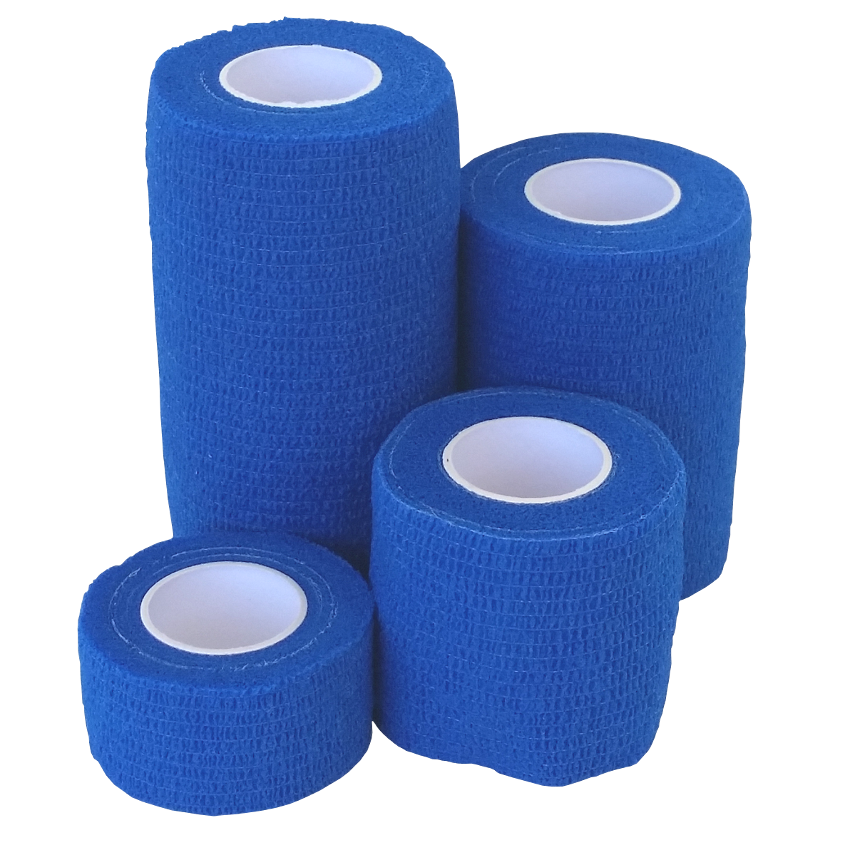 Cohesive Bandages BLUE 100mmx4.5m