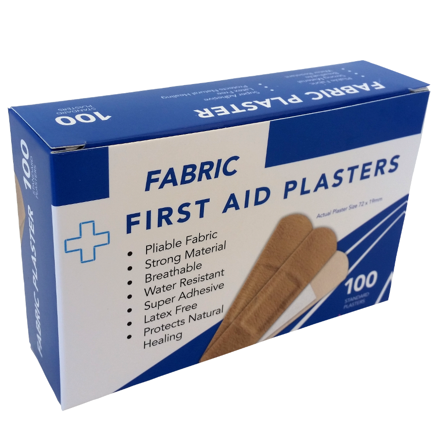 Fabric Plasters 100's Boxed
