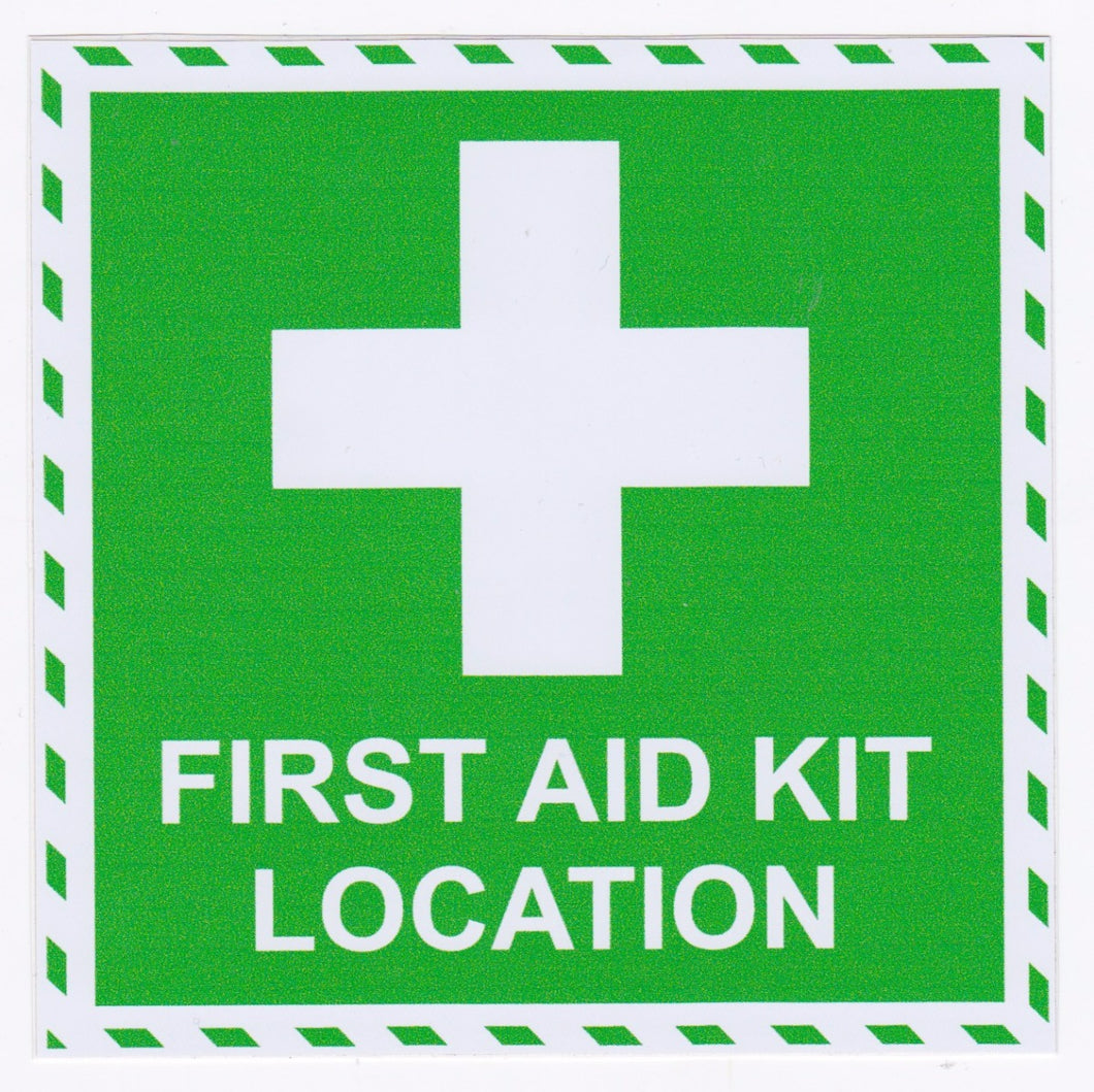First Aid Kit Location Sticker 100mm x 100mm