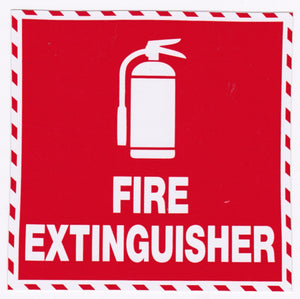 Fire Extinguisher Sticker 100mmx100mm
