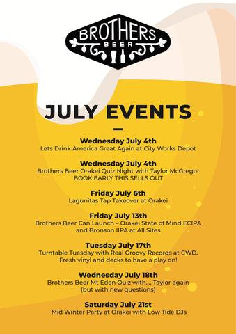 What's on in July poster