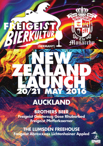 Freigeist Bierkultur Auckland Launch - Friday 20th May, 12pm poster