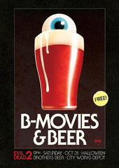 B-Movies & Beer - Evil Dead 2 - 9PM Oct 31st poster