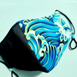 Face Mask (Wavy Blues)