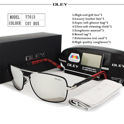 OLEY Polarized Sunglasses Men