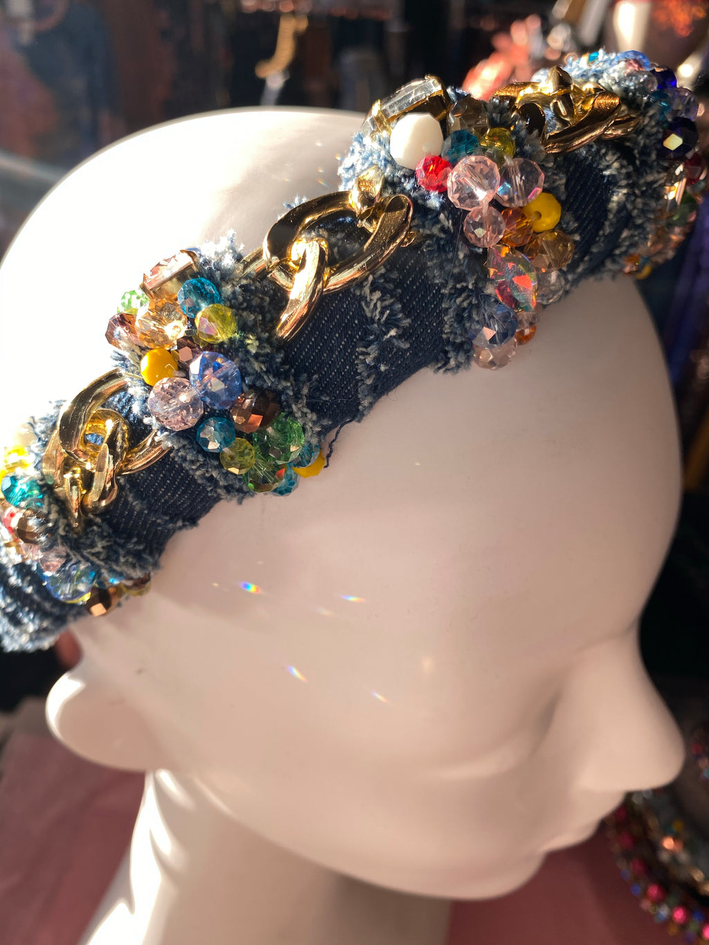 Denim Bling Headband