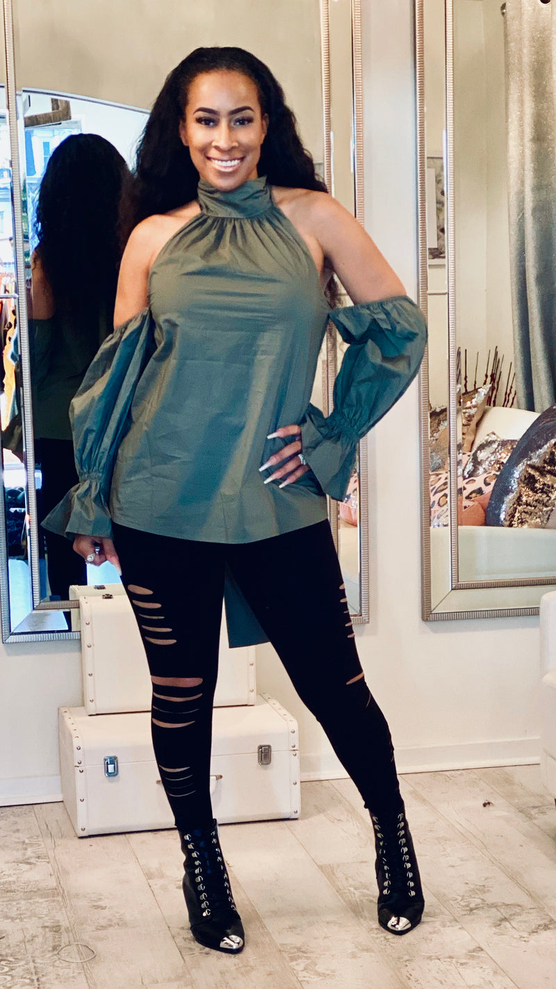 Hunter Green Blouse