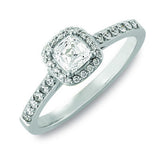 Criss Cut Cushion Diamond Ring