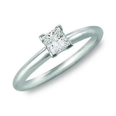 Princess Cut Diamond Solitaire 0.44ct