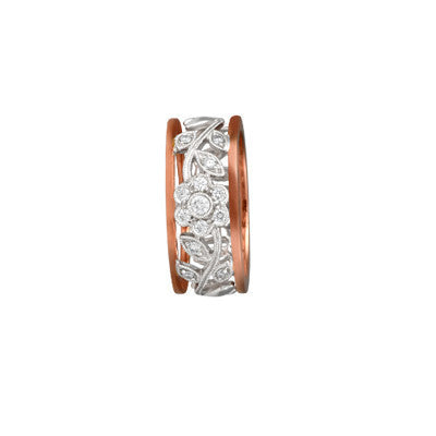 Rose Gold Diamond Flower Ring