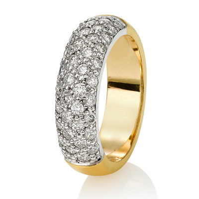 Multistone Diamond Dress Ring