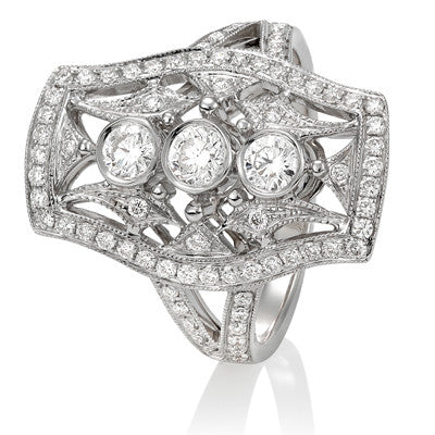Art Deco Design Diamond Dress Ring