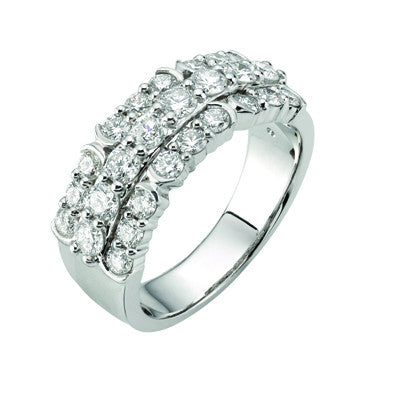White Gold Round Brilliant Cut Diamond Dress Ring