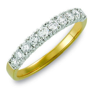 yellow gold diamond wedding ring - Wedding Rings For Her