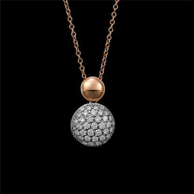 18ct Pav'e Set Diamond Pendnant
