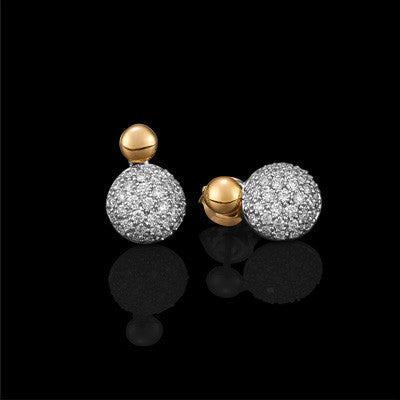 18ct Pav'e Set Diamond Earring