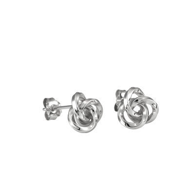 Sterling Silver Large Knot Studs