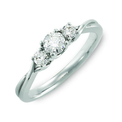 Stylish Trilogy Diamond Ring