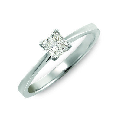 Princess Cut Diamond Solitaire 0.51ct