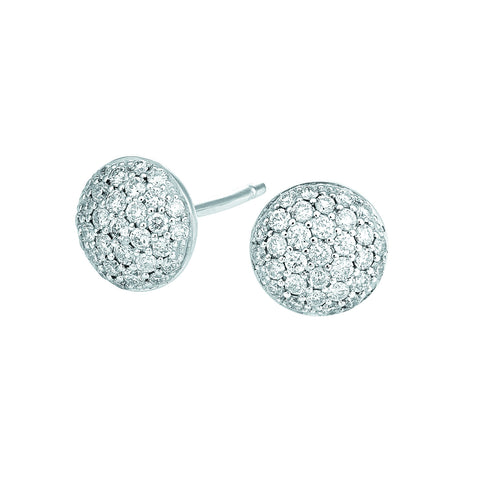 Pav'e Diamond Stud Earrings