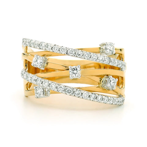 Two Tone Diamond Dress Ring