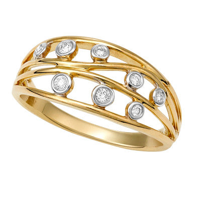 Filigree Gold and Diamond Dress Ring