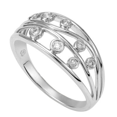 Filigree White Gold and Diamond Dress Ring