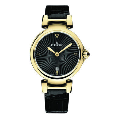 Edox Ladies Dress Watch - 57002 37RC NIR