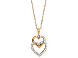 Diamond Heart Pendant on Chain